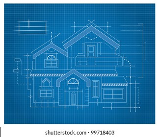 House blueprint imgenes fotos y vectores de stock shutterstock modern house blueprint malvernweather Gallery