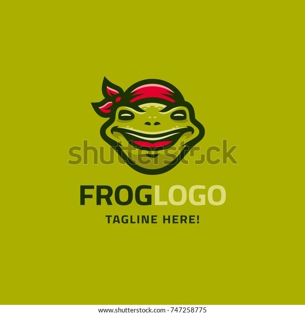 Modern Humorous Logo Template Image Smiling Stock Vector (Royalty