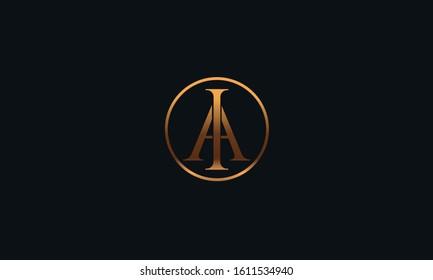 Modern IA AI logo design template