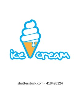 Modern Ice Cream icon logo