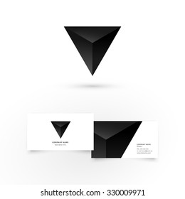 Modern icon design geometric shape element with business card template. Best for identity and logotypes.