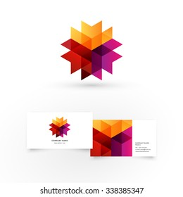 Modern icon design logo element with business card template. Best for identity and logotypes.
