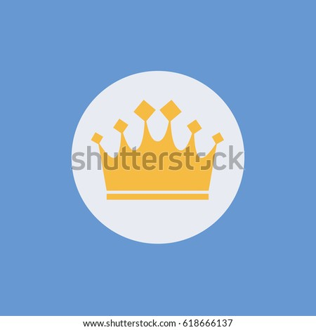 Modern Icon Gold Crown Diamonds King Stock Vector (Royalty