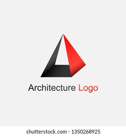 modern icon logo with pyramid concept, logo from achitecture and buildings business