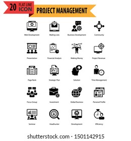 Modern Icon Set Business Project and Management. Line Icon, Thin Icon