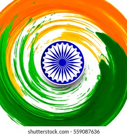 Modern Indian flag theme background