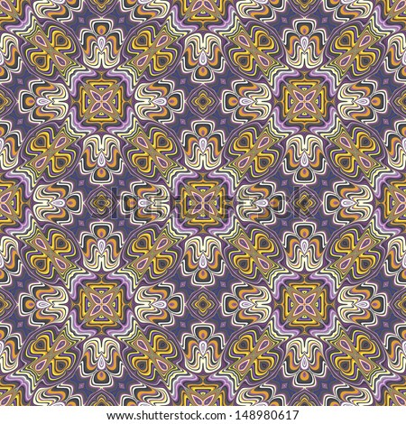 Modern Indian Pattern Spiritual Symbols Derived Stock Vector