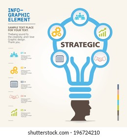modern info-grapgic design, vector, template Big idea