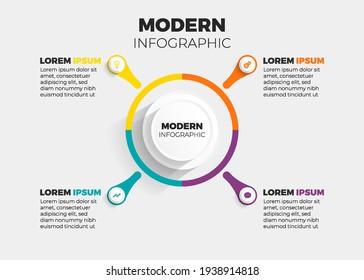 modern infographic 4 element vector illustration
