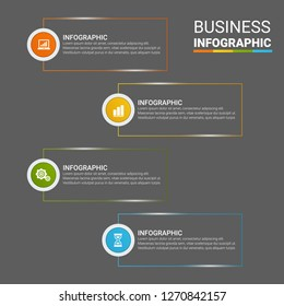Modern Infographic choice template with 4 options. Vector infographic element. - Vector