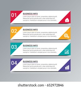 Modern Infographic diagram business steps.