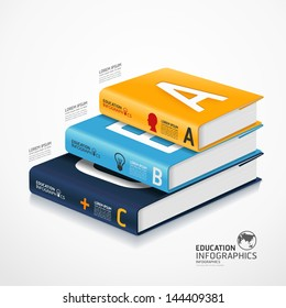 modern infographic Template with book and globe banner / can be used for infographics / banners / concept vector illustration