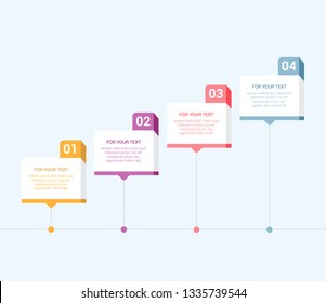 Modern Infographic Template for Business with 4 steps. Business progress concept with options, parts, steps, processes. EPS10