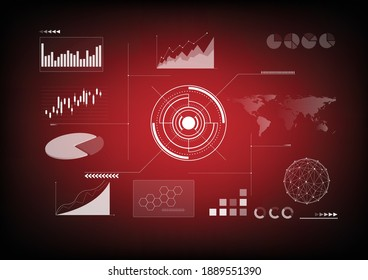 Modern infographic vector template with statistical graphs and financial charts, templates, diagrams and graphs, charts, infographics illustration.