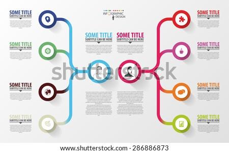 modern infographics business plan design template stock vector