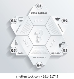 Modern infographics design with numbers. Vector illustration (can be used for your business, web design, graphic or website layout , diagram, numbers options, education process).