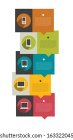Modern infographics diagram. Box with text field. Web or print banner template.