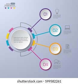 Modern infographics diagram for web design, banners, mobile applications, layouts, corporate brochures, adv booklets,  financial reports. Business concept vector illustration.