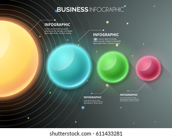 Modern infographics multi color circle with gradient background , Can be used for web design and workflow layout, EPS10