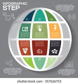 Modern infographics option banner, abstract world map EPS 10