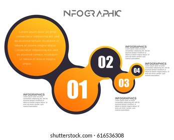 Modern infographics options template with paper sheets, icons for 5 options. Vector. Can be used for web design and workflow layout