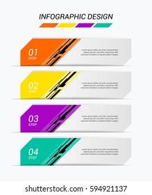 Modern infographics template. Vector.
