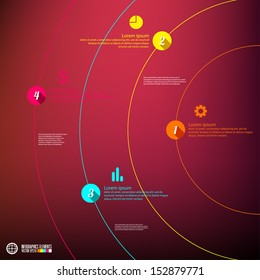 Modern infographics template, vector illustration.