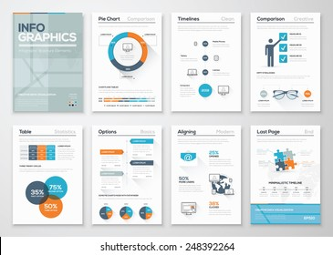 Modern infographics vector concept. Business graphics brochures. Used for workflow layout, diagram, number options, step up options, web template, infographics, websites, brochures, flyers and prints.