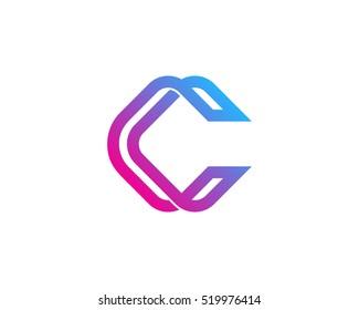 Modern Initial Letter C Infinity Line Logo Design Template