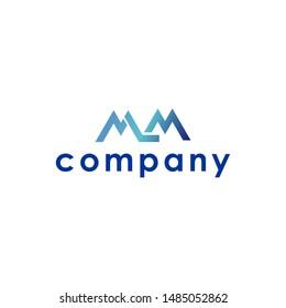 modern initial mlm letter logo design