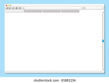 Modern internet web browser with space for your own text