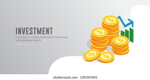 Modern Isometric Business investment concept Illustration, Suitable for Website, Infographics, Book Illustration, Asset, And Other Graphic Related Assets