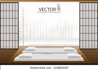 modern japanese style bedroom interior decor