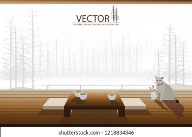 modern japanese style tea room interior decor
