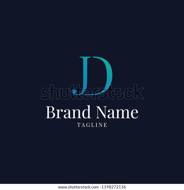 modern jd elegance luxury logo blue stock vector royalty free 1198272136 shutterstock