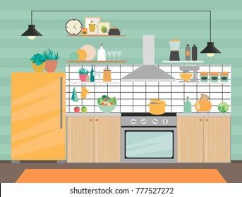 Cartoon Kitchen Images Stock Photos Amp Vectors Shutterstock