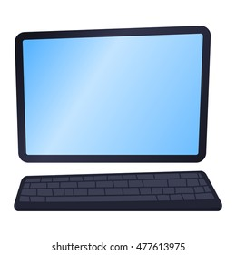 Modern laptop computer isolated on white background vector