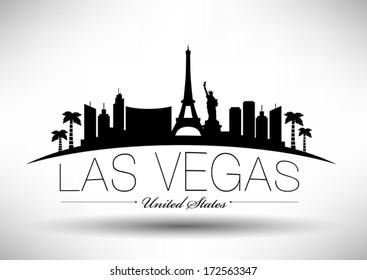 Modern Las Vegas City Skyline Design