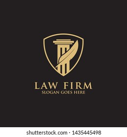 Modern Law Firm Logo Inspiration -  clean and clever logo vector