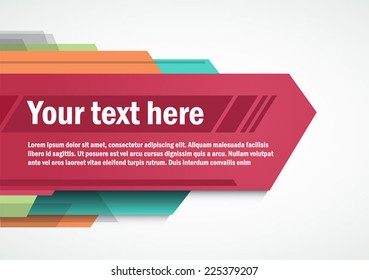 Modern layout for Poster Template Design, title template