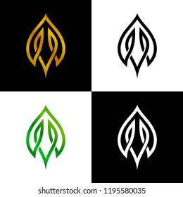 modern leaf logo design