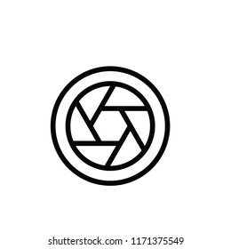Modern lens icon