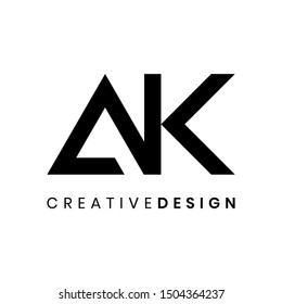 Modern letter AK logo design vector for business company