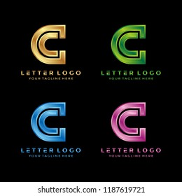 modern letter C luxury with diferrent color
