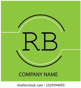 Modern Letter RB in Circle Company Logo Template