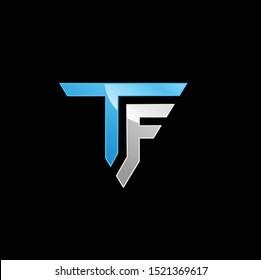 modern letter tf logo vector download