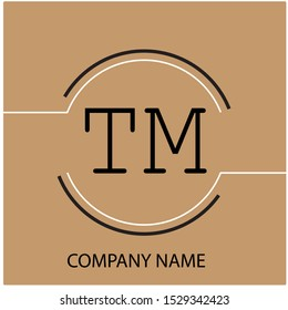 Modern Letter TM in Circle Company Logo Template