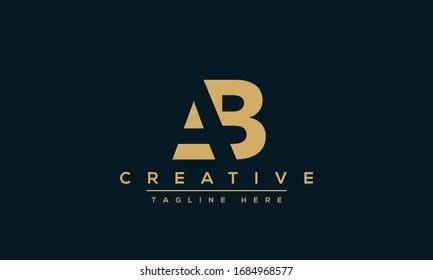 Modern letters AB, A&B Logo Design Template Vector.
