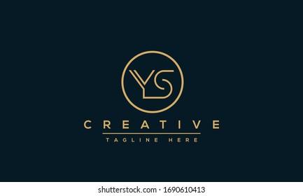 Modern letters YS, Y&S Logo Design Template Vector monogram.