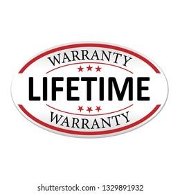 modern lifetime warranty paper logo web badge